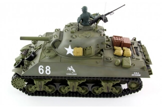 Tanque RC 1/16 Sherman M4A3 2.4G (Airsoft + Sonido + Humo)